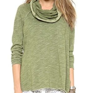 Free People Beach Cocoon Pullover in Army Green